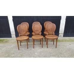 6 chaises médaillon louis xvi