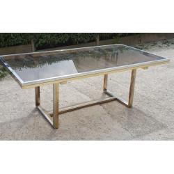 Table vintage 1970 métal doré