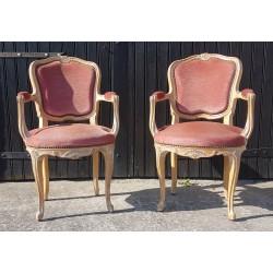 2 fauteuils cabriolets...