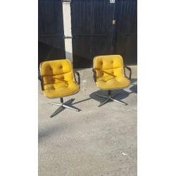 2 fauteuils Charles Pollock...