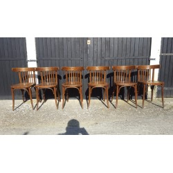Lot de 6 chaises bistrot 1960