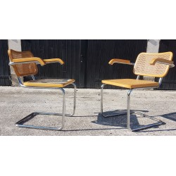 Paire de fauteuils Breuer 1980