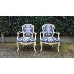 Paire de fauteuils style...