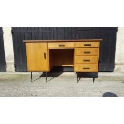 Bureau vintage 1950 chêne,...