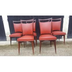 6 chaises vintage années 1950